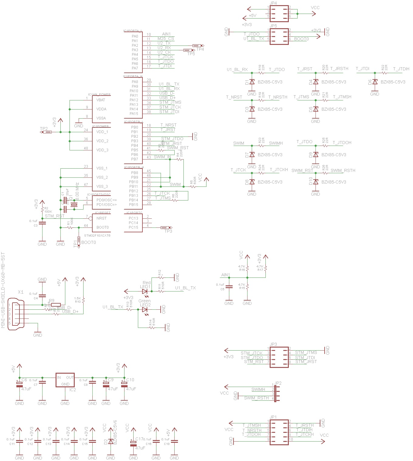 Diy St Link V2 Goodies Schematic Hex Pcb According To It I Created My Own In Eagle Cad